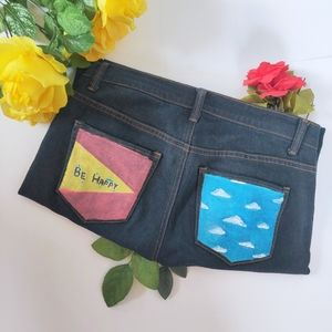 """🎨""""BE HAPPY"""" REWORKED JEANS"""